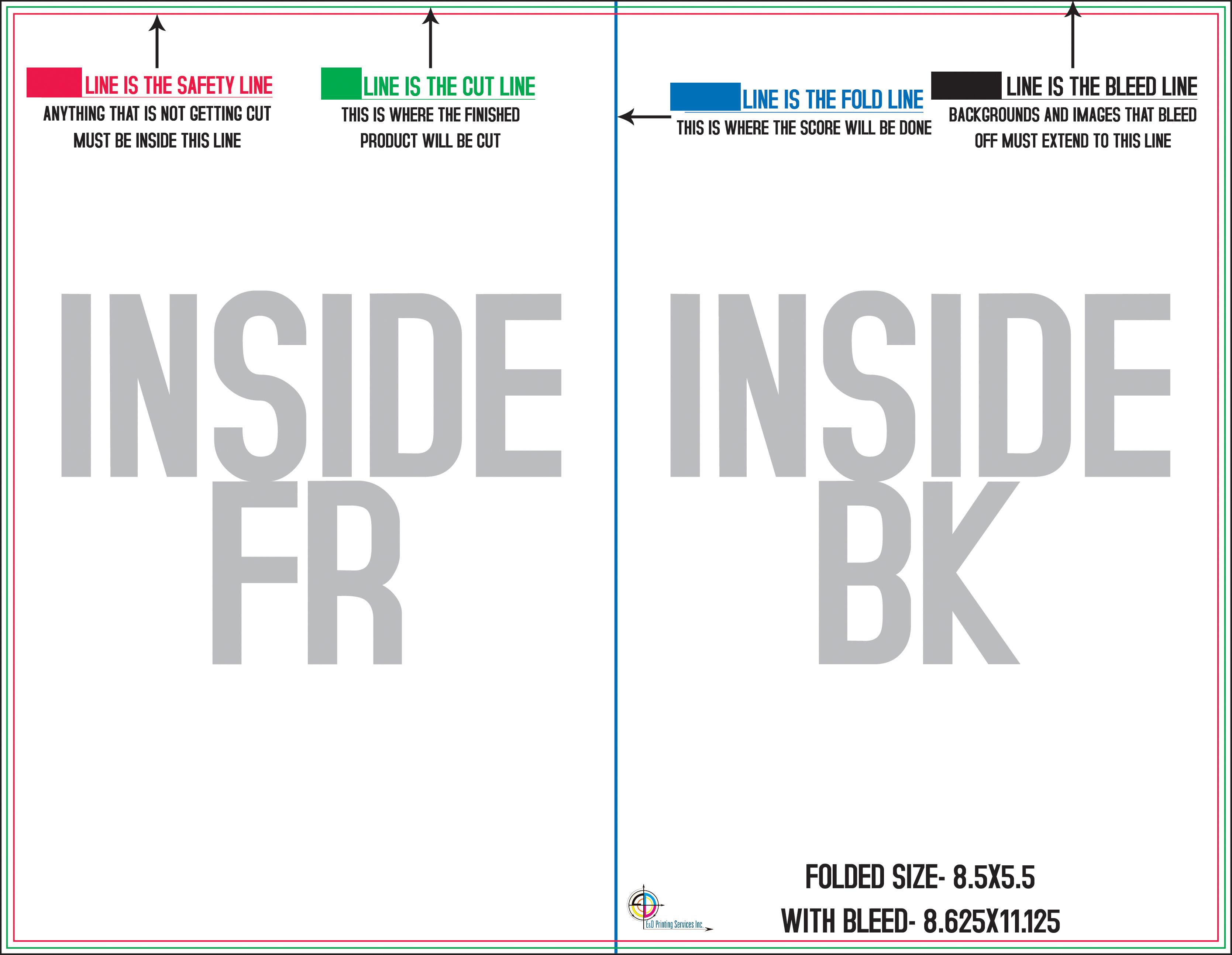 Print Templates Ed Printing Services Inc